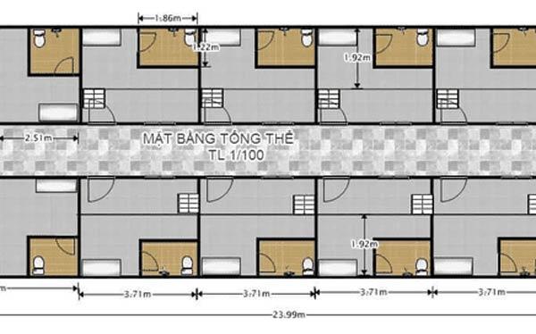 Bản thiết kế gợi ý nhà nghỉ cấp bốn