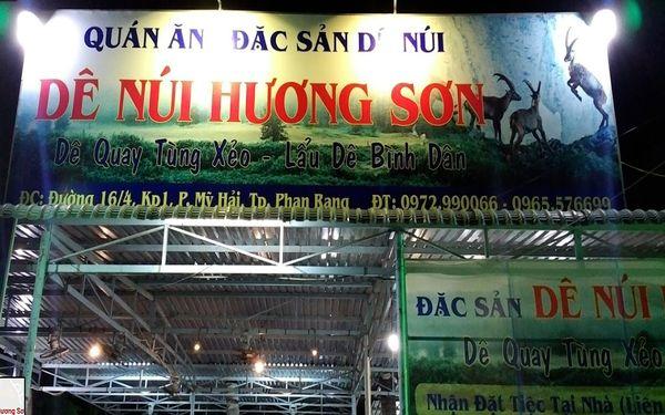 Dê núi Hương Sơn là địa điểm nổi tiếng với đặc sản thịt dê