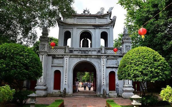 Cổng chính của Văn Miếu