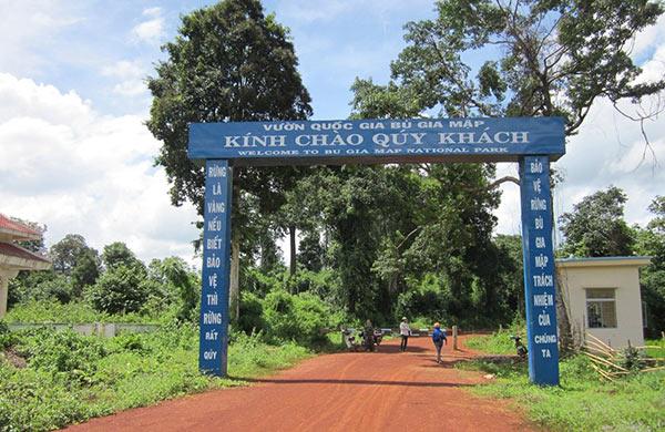 Cổng chào đón tại vườn quốc gia