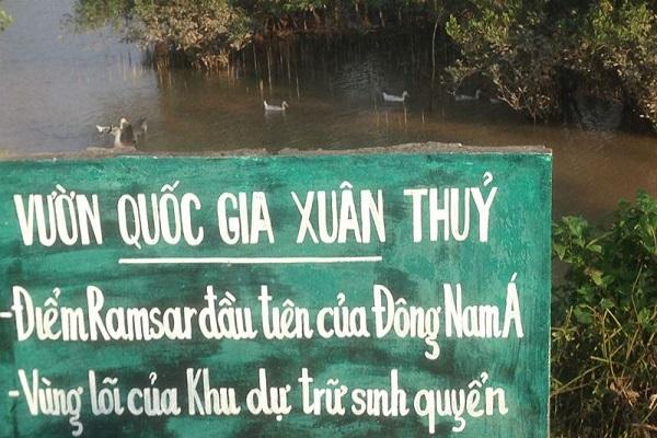 Vườn quốc gia Xuân Thủy Nam Định