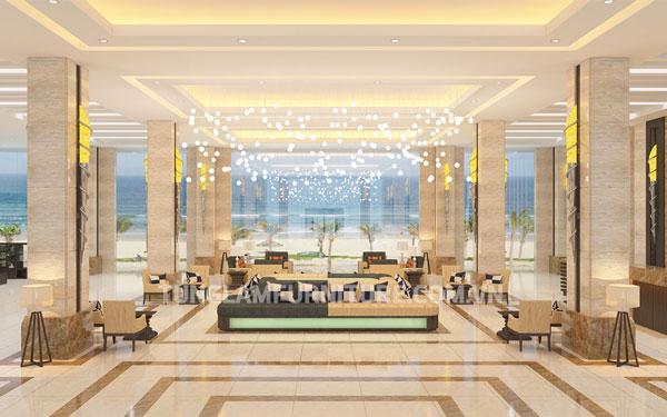 Thiết kế sảnh khách sạn sang trọng