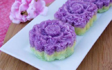 Độc đáo xôi ba màu – Món ăn truyền thống của người Nùng tỉnh Bắc Giang