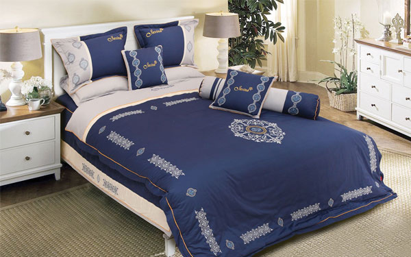 Mẫu chăn ga gối bằng vải cotton 100% được ưa chuộng hàng đầu