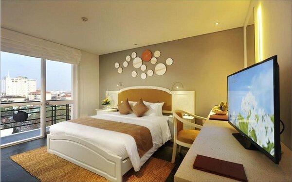 Phòng ngủ khách sạn 3 sao sở hữu view đẹp ngoại cảnh