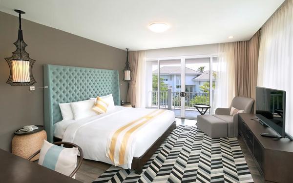 Phòng ngủ thiết kế đơn giản nhưng sang trọng tại Premier Village Danang Resort