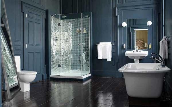 Tông màu tối nổi bật các thiết kế nội thất tạo chiều sâu cho căn phòng