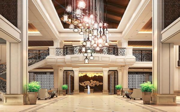 Kiến trúc sảnh tân cổ điển nổi bật tại resort Vinpearl Đà Nẵng
