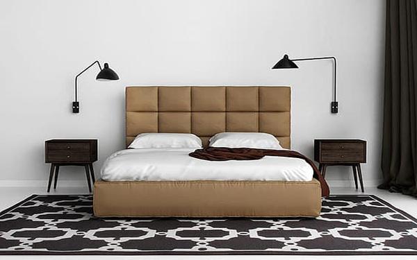 Thảm trải sàn bằng vải cao cấp mang lại sự sang trọng cho căn phòng