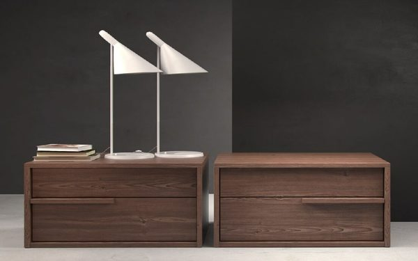 Kệ đầu giường bằng chất liệu gỗ sang trọng