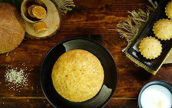 """Ngon 'lịm tim"""" với bánh bò thốt nốt – đặc sản An Giang"""