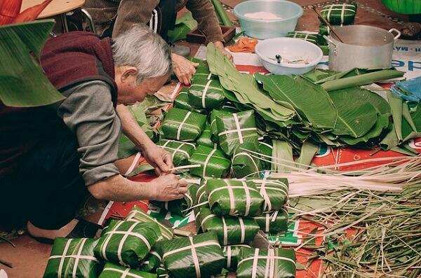Làng bánh chưng Bờ Đậu đã có tuổi đời hơn 50 năm