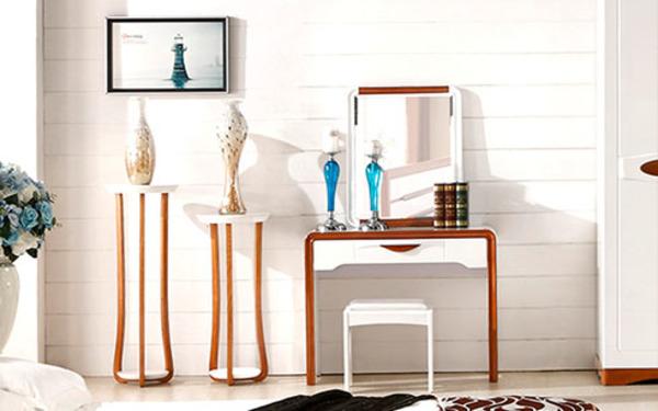 Bàn ghế trang điểm tinh giản mang phong cách hiện đại