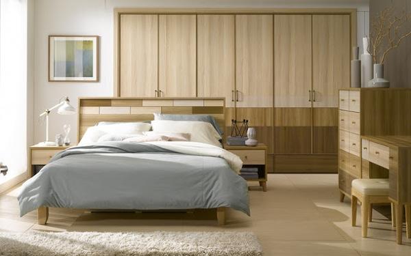 Sử dụng nội thất gỗ mộc mạc tạo vẻ đẹp giản dị cho phòng ngủ