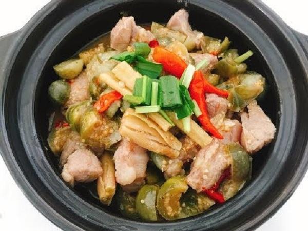 Khi nấu cùng thịt heo mang theo hương vị rất đặc biệt