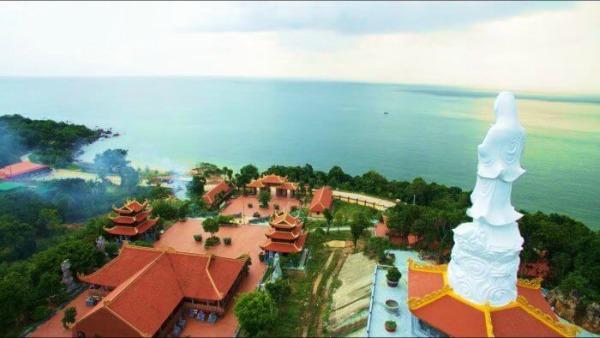 Vẻ đẹp của ngôi chùa khi nhìn từ trên cao