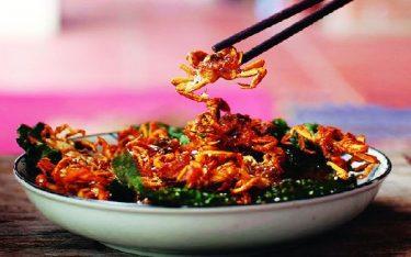Cua đồng rang lá lốt – đặc sản đậm hương vị quê Ninh Bình