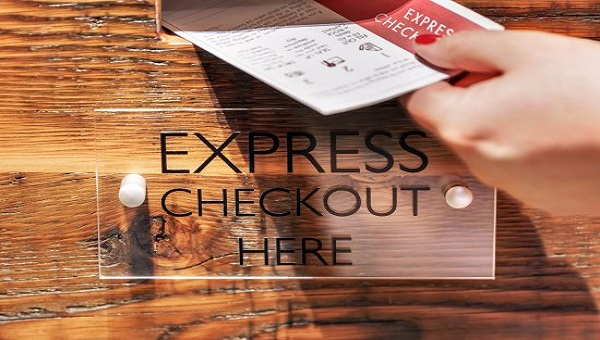 Express check-out service