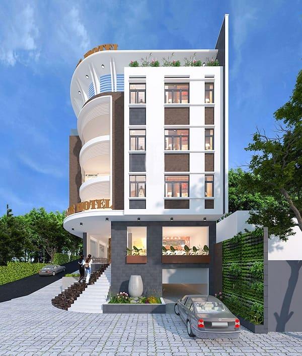 Khám phá mẫu kiến trúc khách sạn 5 tầng hiện đại thu hút mọi ánh nhìn