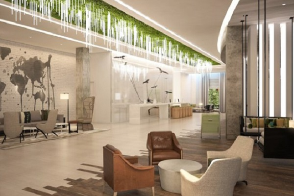 Tùy từng quy mô khách sạn mà có tiêu chuẩn riêng về diện tích tiền sảnh