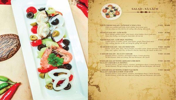 Alacarte menu
