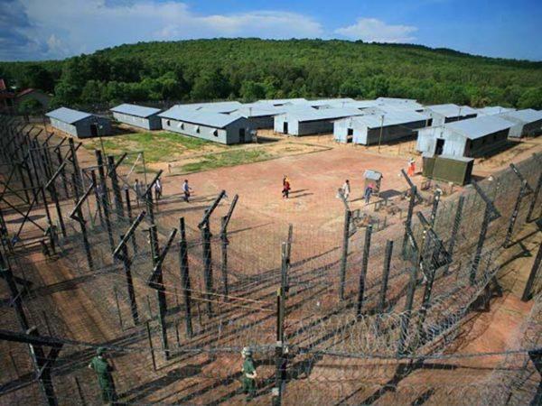 Cấu trúc của nhà tù khi nhìn từ trên cao