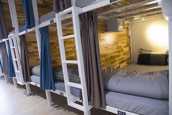 Kết cấu phòng tại Ben Thanh Dorm House - Hồ Chí Minh. Giá khoảng 150.000đồng/người