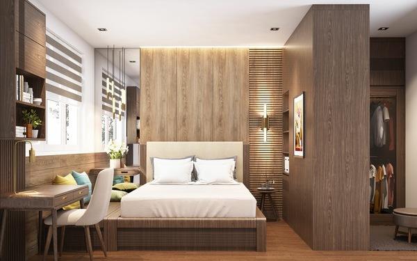 Kiến trúc phòng ngủ mang hơi thở hiện đại, ấm cúng