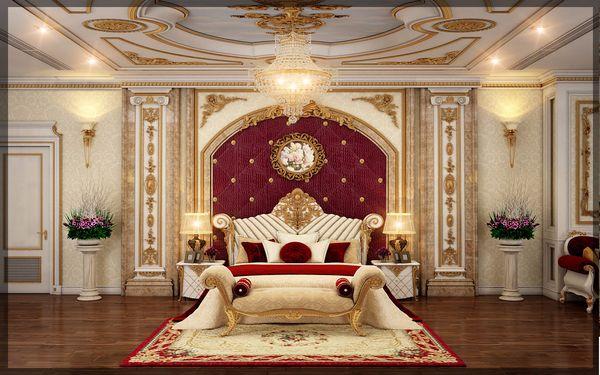 Cách thiết kế phòng ngủ hoàng gia ấn tượng trong từng họa tiết