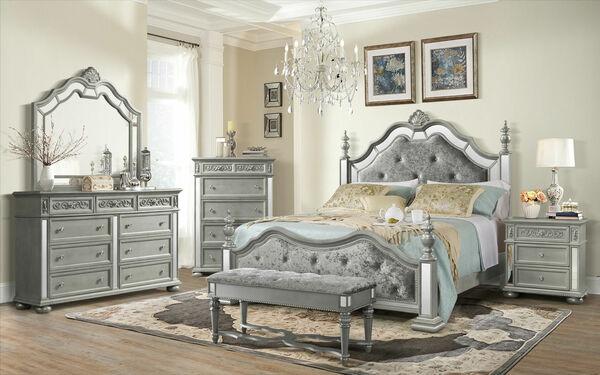 Phòng ngủ với gam màu xám trang trọng đẹp mọi góc nhìn