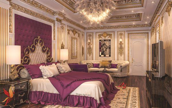 Những mẫu phòng ngủ khách sạn tân cổ điển đẹp hút mắt