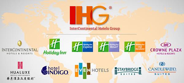 IHG là công ty hàng đầu quản lý rất nhiều khách sạn có tiếng