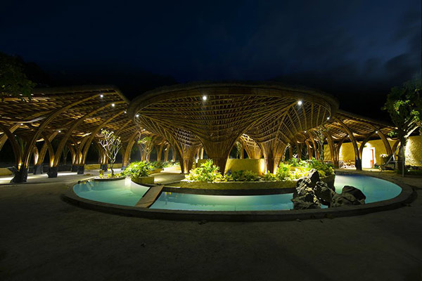 Phong cảnh ban đêm tại resort vô cùng lung linh
