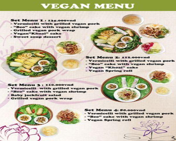 Set menu chay