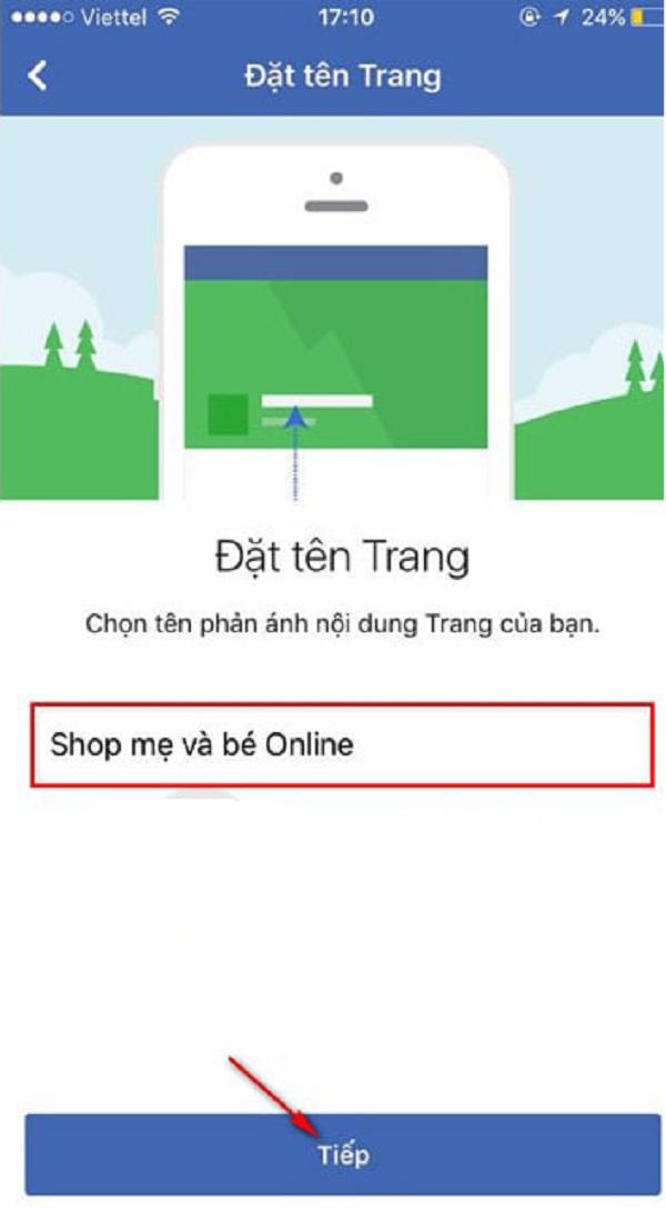 Hãy nhớ sử dụng tên ngắn gọn, dễ nhớ và dễ hiểu cho Trang