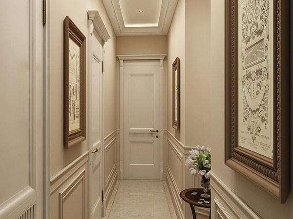 Tranh treo tường khiến không gian hành lang nhỏ trở nên cuốn hút hơn