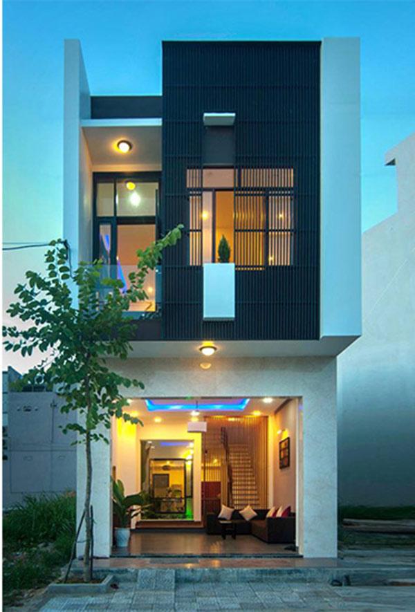 Thiết kế nhà nghỉ 2 tầng theo hướng hiện đại dễ gây thiện cảm với du khách