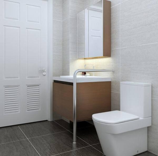 Nhà vệ sinh trong nhà nghỉ đơn giản nhưng rất tiện nghi và sạch sẽ