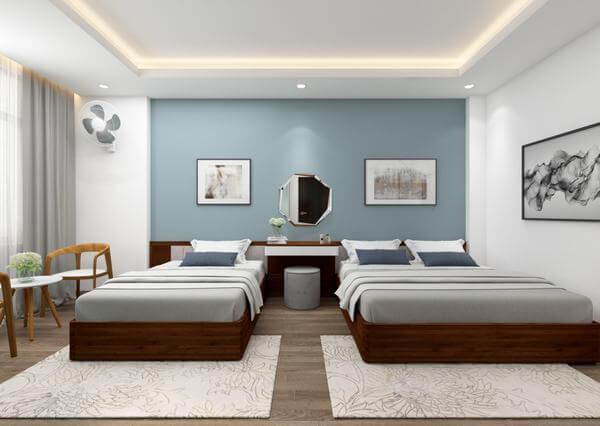 Nội thất nhà nghỉ hiện đại, mang đến không gian thoải mái cho khách hàng