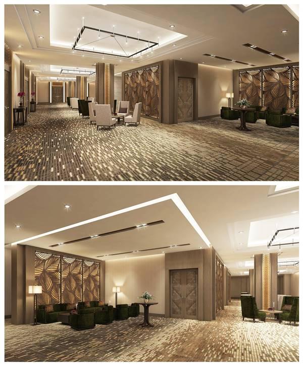 trang trí hành lang khách sạn