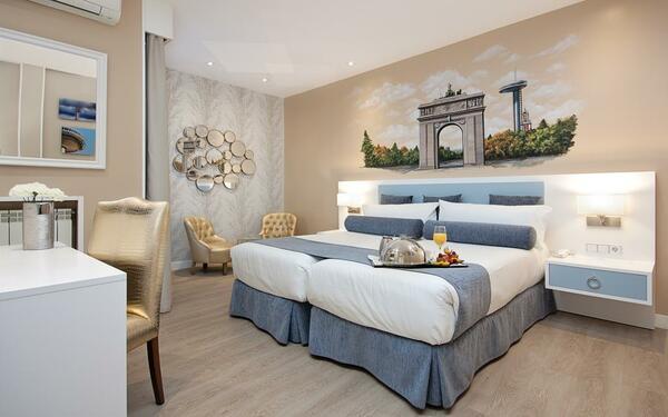 Trang trí phòng ngủ khách sạn bằng tranh phong cảnh hữu tình