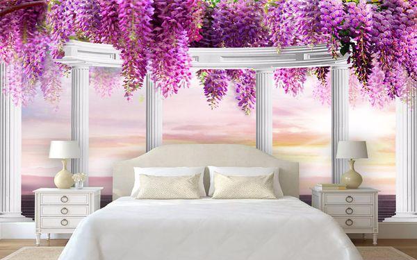 Tranh dán tường 3D cho phòng ngủ trở nên sinh động