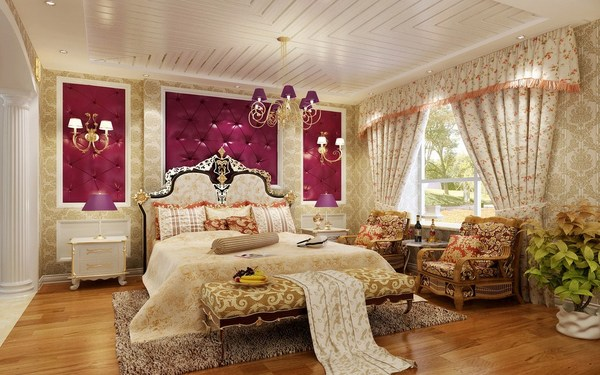 Phòng ngủ cổ điển với trang trí nội thất tạo sức hút độc đáo