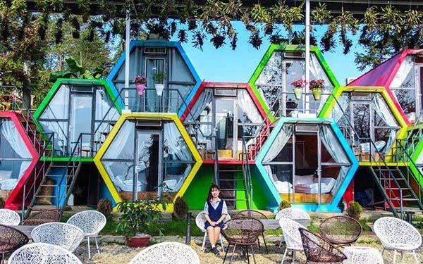 Homestay TubOtel tại Sapa kiểu tổ ong với kết cấu vui nhộn và màu sắc bắt mắt