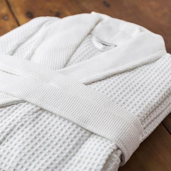 Áo choàng tắm kimono sợi vải tổ ong sang trọng