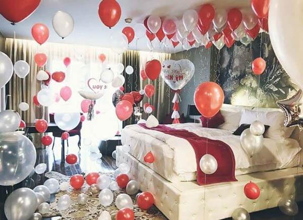 trang trí phòng Honeymoon