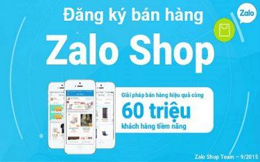 Đăng ký bán hàng trên Zalo shop cho người muốn kinh doanh