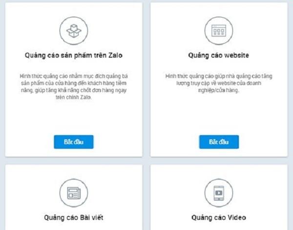 4 hình thức quảng cáo trên Zalo