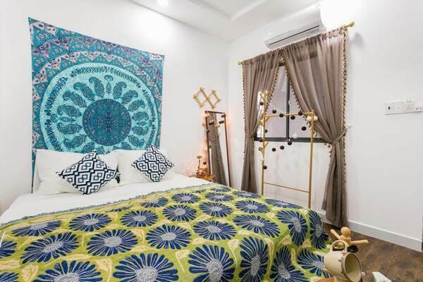 Phòng ngủ tại homestay ở Bùi Viện đẹp ngỡ ngàng