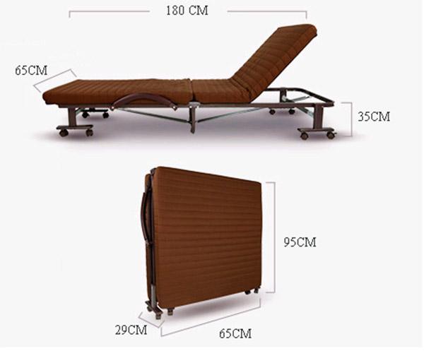 Kích thước giường gập Hàn Quốc có thể sử dụng tại nhà hoặc trang bị trong phòng khách sạn